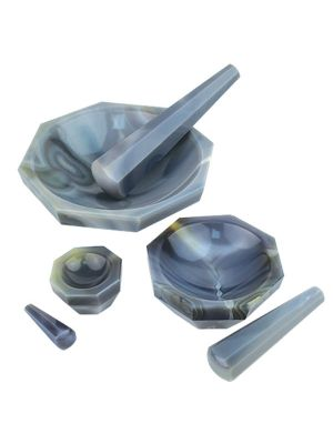 Agate Mortar and Pestle Sets