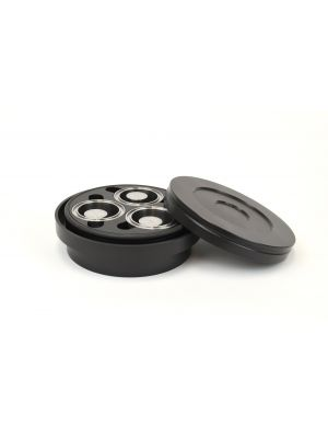 5083-HS: GyralGrinder® Puck and Ring Grinding Vessel, Hardened Steel, 3 Pos