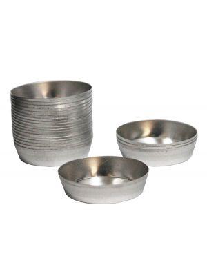 545: PelletCups®Compressible Tapered Aluminum Briquetting Cup, 39.8mm Dia. x 9.4mm Tall 600/pk